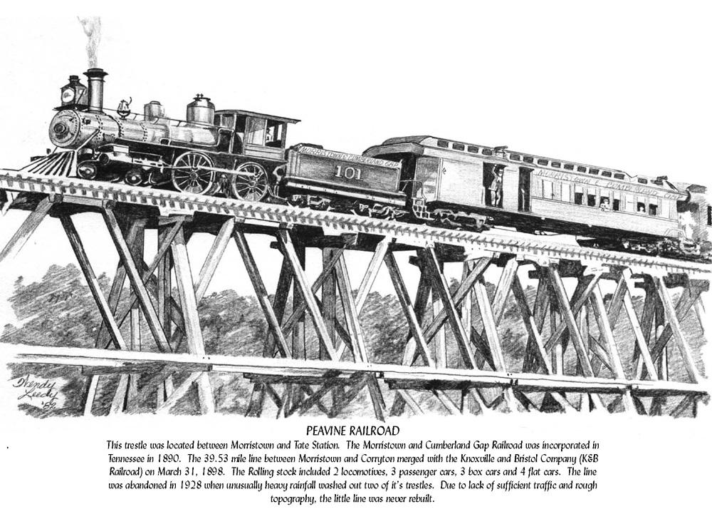 Peavine Railroad, Tn.- Pencil Drawing